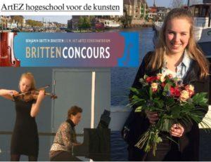 Eline de Vries at Britten Concours